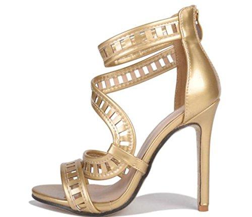 YCMDM donne popolari oro e argento sandali scarpe col tacco alto 2017 nuovi europei e americani , gold , 36