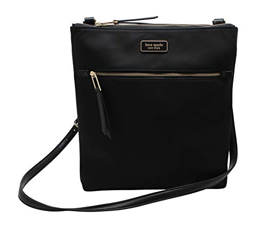 Kate Spade New York Dawn Flat Crossbody Purse (Black)