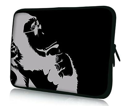 1d5035bccb Luxburg® design housse sacoche pochette pour ordinateur portable 8 pouces,  motif: Chimpanzé pensant