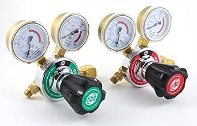 SÜA Oxygen and Acetylene 25HX Regulators Combo HARRIS Style