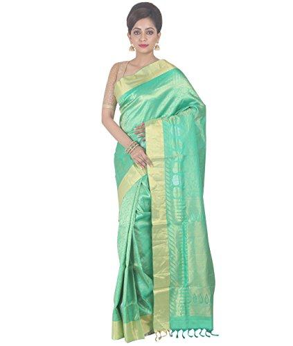 Indian Ethnic Upadda Silk Light Green Uppada Saree by Simaaya Fashions Pvt Ltd (Image #5)