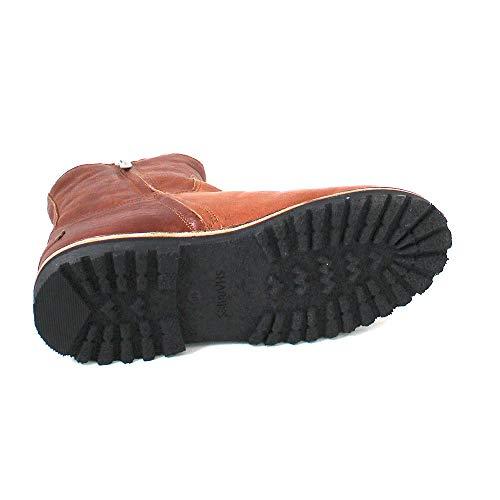 Bottines Leather Nappa Shs0292 Femme Shabbies Braun Cognac Amsterdam 0EqFwF