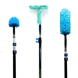 EVERSPROUT-Duster-3-Pack-with-Extension-Pole-25-Foot-Reach-Hand-packaged-Cobweb-Duster-Microfiber-Feather-Duster-Flexible-Microfiber-Ceiling-Fan-Duster-Aluminum-Telescopic-Pole
