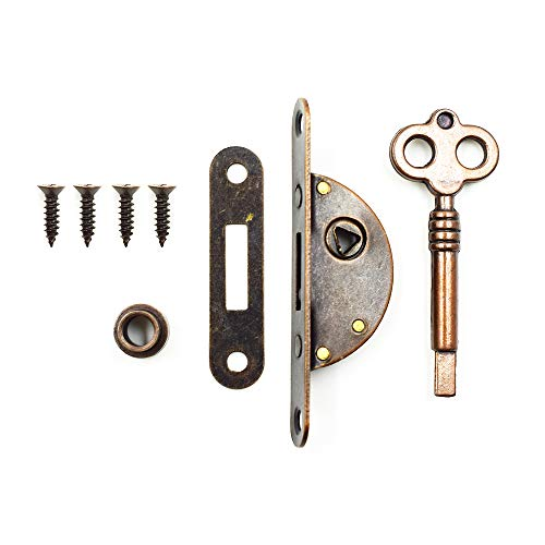 LICTOP Cabinet Cupboard Furniture Decorative Lock Case Box Lock with Key(1 ()