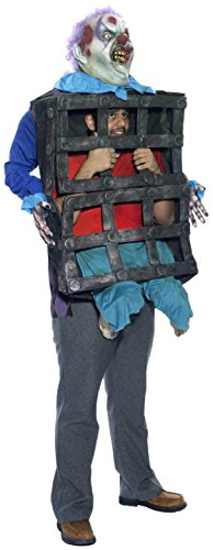 Forum Novelties Men's Creepy Clown with Cage Costume, Multi, Standard]()