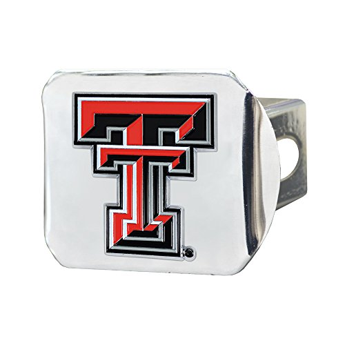 (Texas Tech University Chrome Hitch Cover with Color Emblem)