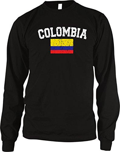 - Flag of Colombia Men's Long Sleeve Thermal Shirt, Amdesco, Black Small