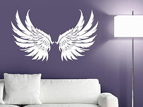 CreativeWallDecals Wall Decal Vinyl Sticker Decals Art Decor Design Big Wings Angel God Guardian Bird Kids Children Nursery Bedroom Living Room -