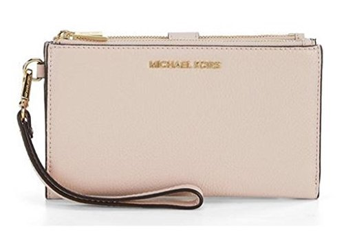 MICHAEL Michael Kors Adele Leather Smartphone Wristlet (Soft Pink)