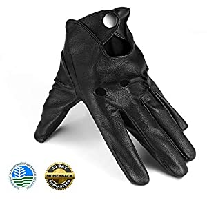 Driving Gloves Thin Black Leather Gloves Mens Driving Gloves Touchscreen Outdoor Sports