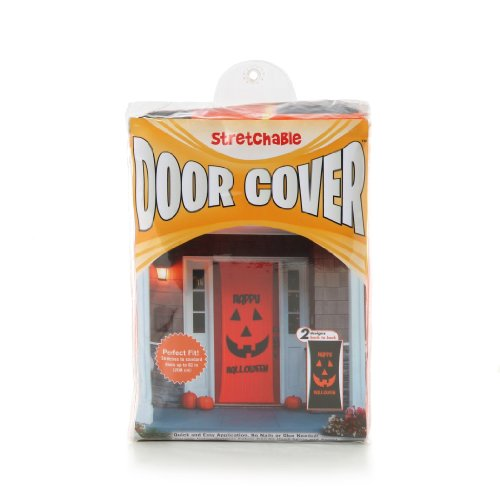 (Kittrich Corporation Double-Sided Decorative Halloween Theme Stretchable Door Cover )