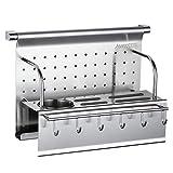 Kitchen Rack Wall Mount Chopping Board Kitchen Knife Storage Drain Rack Stainless Steel Multifunctional, Single Layer, 410mm