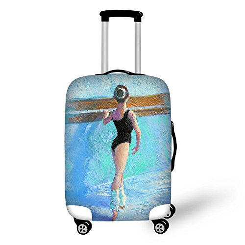 Travel Luggage Cover Fits 18-30 Inch Brilliant Colors Spandex Luggage Protector (S (18