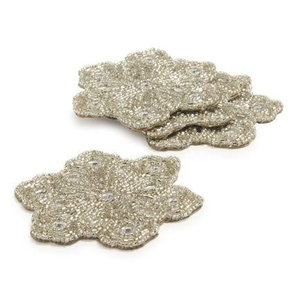 Sur La Table Snowflake Beaded Coasters, Set of -