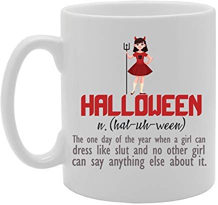 Halloween - Funny Halloween Meaning Dictionary Definition Mug Novelty White Ceramic Coffee Tea Cup,11 Oz, Christmas Mug,Birthday Retirement Gifts Mug