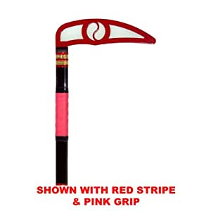 Red Blade - Classic Black Children Kama - Karate Taekwondo (Black Stripe & Grip)