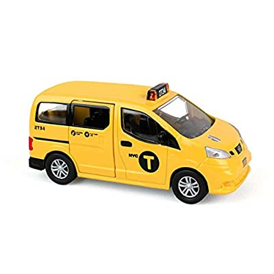 Daron NYC 2020 Nissan NV200 Yellow Medallion Taxi Cab 1/64 S Scale Diecast Cargo Van: Toys & Games
