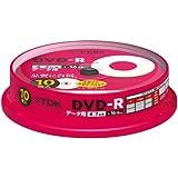 TDK データ用DVD-R 4.7GB 16倍速対応 パールカラーディスク(タイトルライン付き) 10枚 スピンドル DR47ALC10PU