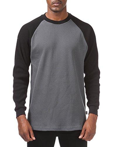 1cab9e41 Pro Club Men's Heavyweight Baseball Thermal Raglan Long Sleeve Shirt ...