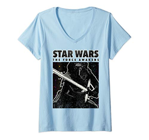 Womens Star Wars Kylo Ren The Force Awakens Poster V-Neck T-Shirt