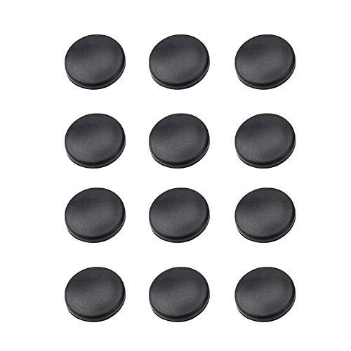 kaaka 12Pcs Universal Car Interior Trim Door Lock Screw Anti-Rust Cover Caps with Adhesive Auto Vehicle Protective Part Accessories Black