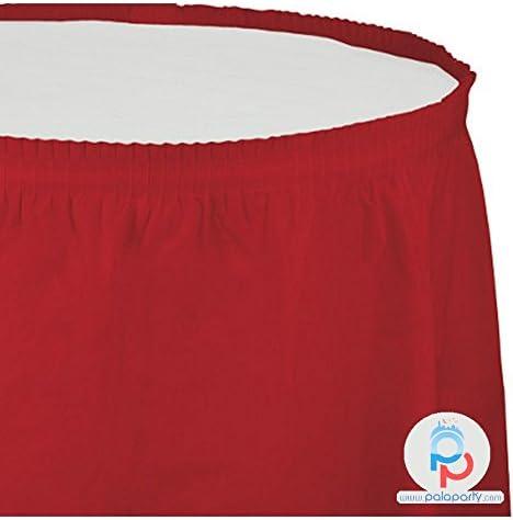 Creative convertting falda plástico 74 x 420 cm Rojo Classic Red ...