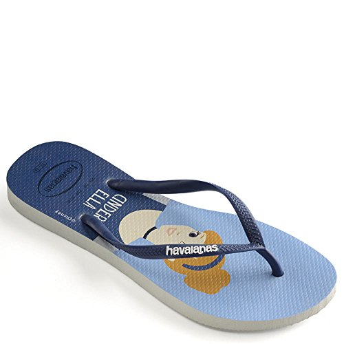 Havaianas Navy Disney Women's Slim Sandal Blue White Princess UwSqUzrxT