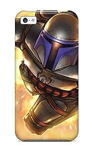 For Iphone 5c Premium Tpu Case Cover Jango Fett - Star Wars Protective Case