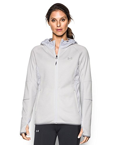 Under Armour Women's Storm Swacket Full Zip, Glacier Gray/White, (Glacier Systems Jacket)