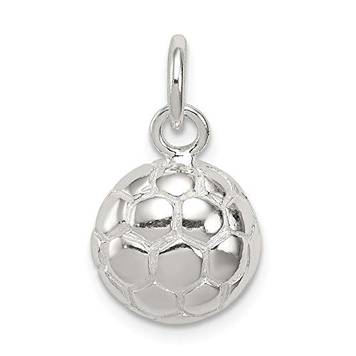 Jewelry Pendants & Charms Themed Charms Sterling Silver Soccer Ball Charm