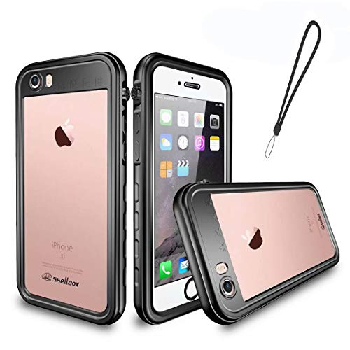 iPhone 6/iPhone 6s Waterproof Case,Mangix 4.7 inch iPhone 6/6s Full Body Shockproof Snowproof Dirtproof with Hand Rope Case for Swimming Diving Surfing Snorkeling-Black ()