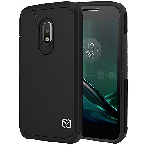 Anti-Fall Armor Phone Case for Moto G4 Play(Black) - 3