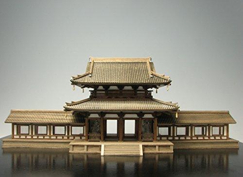 プラッツ 1/100 木製建築模型 法隆寺 中門(回廊付き)(リニューアル版) プラモデル