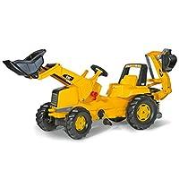 rolly toys CAT Construction Pedal Tractor: Retroexcavadora cargadora (cargador frontal y excavadora /excavadora), Juvenil Edad 3+