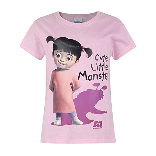 Monster Inc Girl (Monsters Inc Childrens/Girls Official Boo Cute Little Monster T-Shirt (Years (1/2)) (Light Pink))