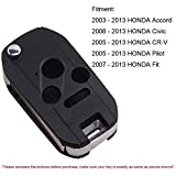 Heart Horse Keyless Entry Flip Key for Honda Accord Civic Ex Pilot CRV Odyssey Accord Fit City 3+1 Buttons Remote Shell Cover Fob Case