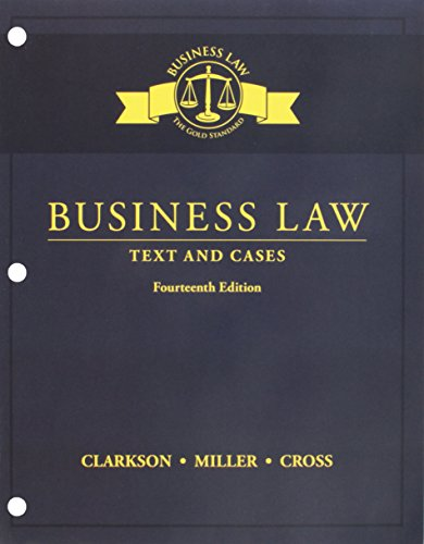Bundle: Business Law: Text and Cases, Loose-Leaf Version, 14th + MindTap Business Law, 2 terms (12 months) Printed Access Card