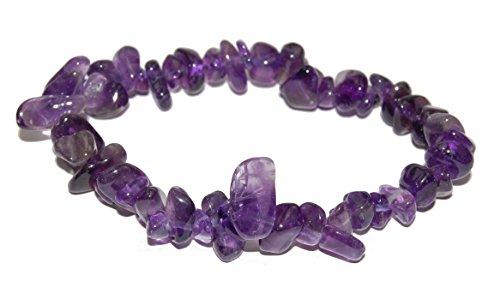 - Miner's Horde - Chip Chunk Bracelet Amethyst Purple Violet, 6-8