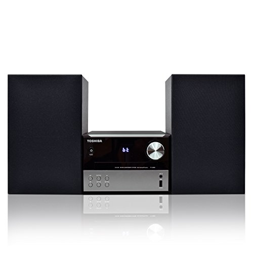Toshiba Micro Component Speaker System: Wireless Bluetooth Speaker Sound System with FM, USB & CD