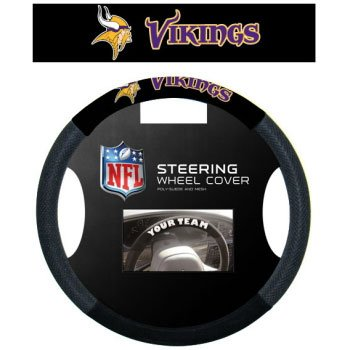 Minnesota Vikings Black Steering Wheel Cover - Minnesota Vikings Steering Wheel Cover