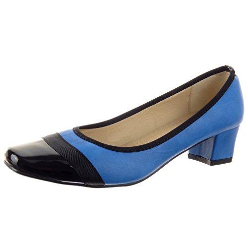 Sopily - Bomba Bailarina Sapatos Da Moda Das Mulheres Deslizamento-em Azul Brilhante