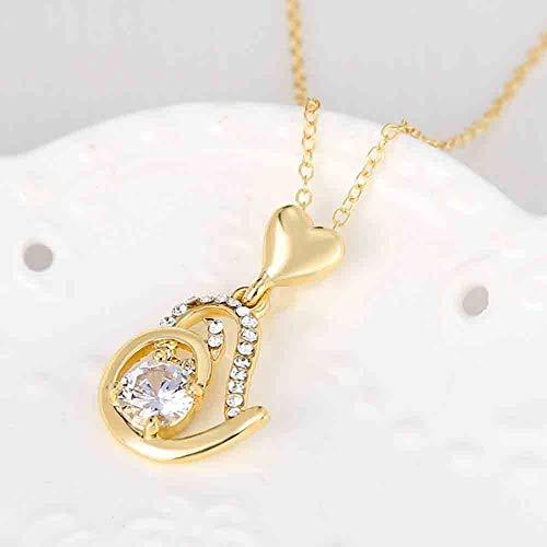 Gift Jewelry Chain Rhinestone Fashion Party Pendant Alloy Zircon Necklace