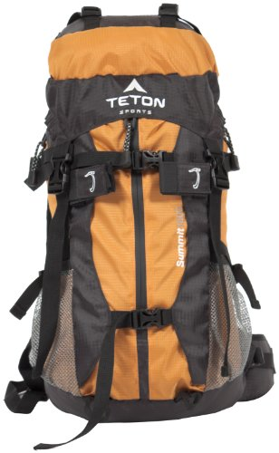 TETON Sports Summit 1500 Ultralight Internal Frame Backpack (22.5″x 11″x 9″, Orange), Outdoor Stuffs