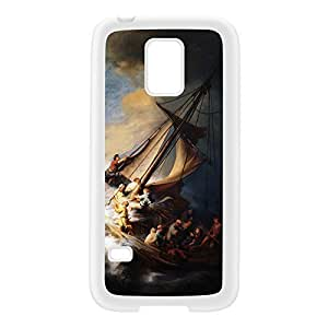 Christ in the Storm on the Lake of Galilee by Rembrandt White Silicon Rubber Case for Galaxy S5 Mini by Painting Masterpieces + FREE Crystal Clear Screen Protector