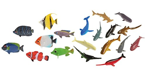 (Under the Sea Plastic Sea Life Creatures 24 Piece- Sharks, Whales, and Fish)