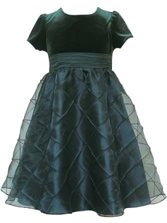 Rare Editions Little Girls' Hunter Dress, Hunter Green, 6
