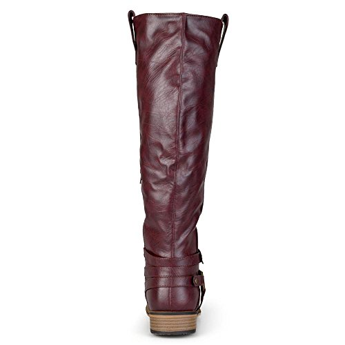 Boots Womens Walla Toe Fashion Collection Brown Knee Leather Closed Journee WC High t5vgnWztYq