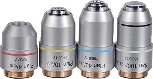 UNICO G380-2301 4X Infinity Plan Achromat Objective Din, NA