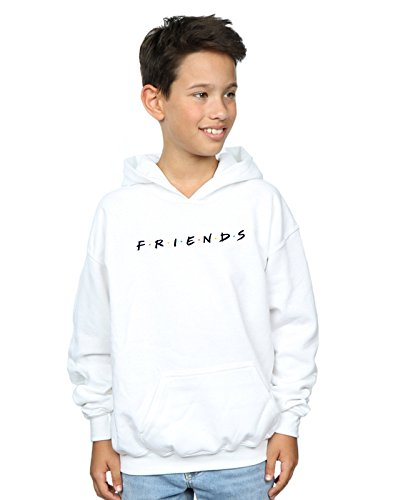 Cult con Text Boy bianca Absolute Friends Felpa Logo cappuccio aqYwOd