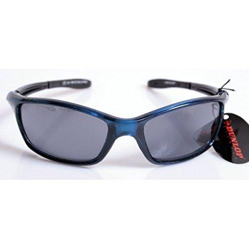 42582a3d2e Gafas de sol Dunlop Sport - Hombre - Montura azul - 1195 C3/Home Shop  Italia Montatura blu trasparente, astine flessibili nere e lenti grigie:  Amazon.es: ...